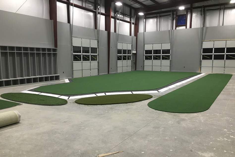 Golf Room during construction